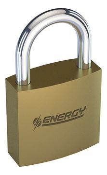 Imagen de Candado bronce Energy 63mm baño de bronce - Ynter Industrial