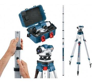 Imagen de Combo nivel óptico  GOL26D + regla GR500 + trípode BT160HD BOSCH- Ynter Industrial