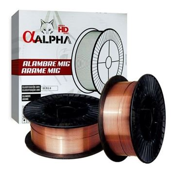 Imagen de Alambre Mig c/gas Alpha Pro 1,0mm ER70S-6 Bobina 15kg -Ynter Industrial