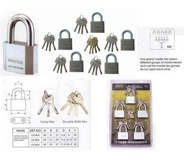 Imagen de Candado 5 Piezas Con Llave Maestra | Ynter Industrial