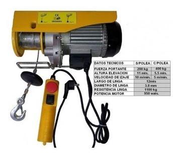 Imagen de Aparejo Electrico 0400 Kg. 6mts.- Ynter Industrial