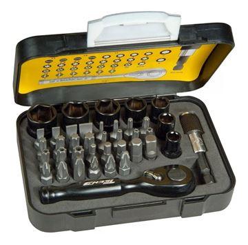 Imagen de Juego de puntas y dados 39 piezas Stanley Tech 3 - Ynter Industrial