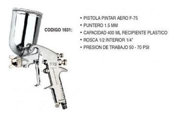 Imagen de Pistola Pintar Aerografo F-75 - 1631 - Ynter Industrial