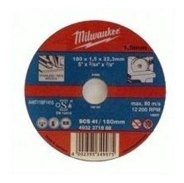 Imagen de Disco Corte Metal 180mm X 1.5mm Milwaukee - Ynter Industrial