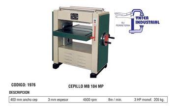 Imagen de Cepillo Carpintero Banco Industrial 400mm