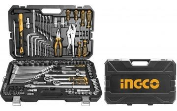 Imagen de Set 142 herramientas combinadas Ingco c/valija - Ynter Industrial