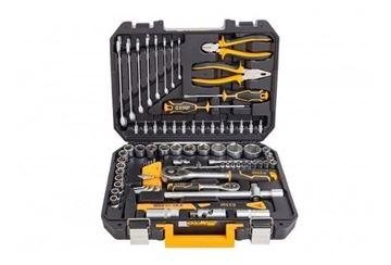 Imagen de Set 77 herramientas combinadas c/valija plástica Ingco - Ynter Industrial