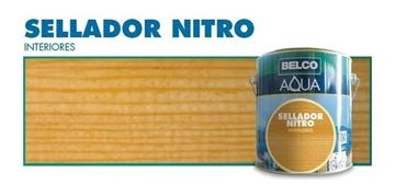 Imagen de Sellador Para Madera Belco Aqua Nitroceluloso 0.9 Lt - Ynter