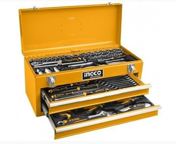 Imagen de Set 97 herramientas Ingco c/gabinete metálico - Ynter Industrial