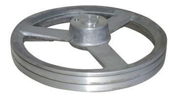 Imagen de Polea  De Aluminio 2 Canales B2 Medida 230 Mademil - Ynter