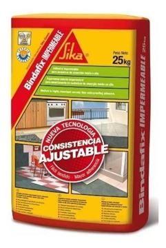 Imagen de Adhesivo impermeable p/ceramicos BINDAFIX IMPERMEABLE 25kg - Ynter Industrial