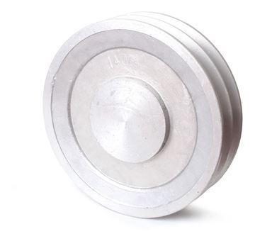 Imagen de Polea De Aluminio 2 Canales A2 Medida 100 Mademil - Ynter