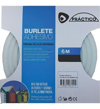 Imagen de Burlete simil goma blanco/marrón 10mm x 6mm x 6mts - Ynter Industrial