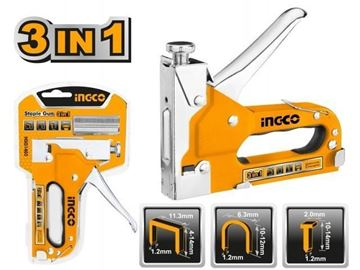 Imagen de Engrampadora clavadora 3 en 1 p/maderas y MDF Ingco - Ynter Industrial