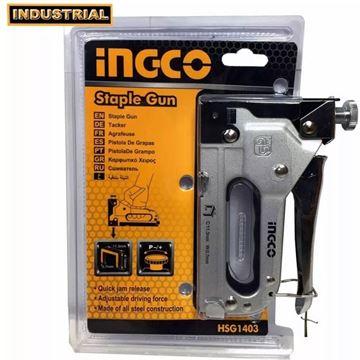 Imagen de Engrampadora manual 4-14mm Ingco fuerza ajustable - Ynter Industrial