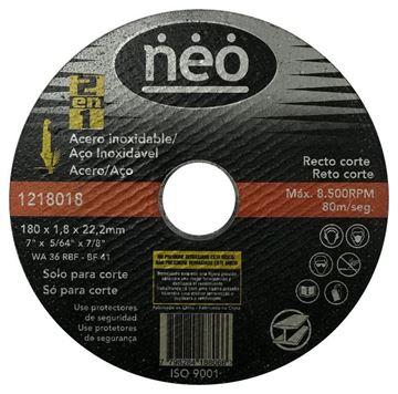 Imagen de DISCO ABRASIVO DE CORTE ACERO/ACERO 180 x 1.8 NEO - Ynter Industrial