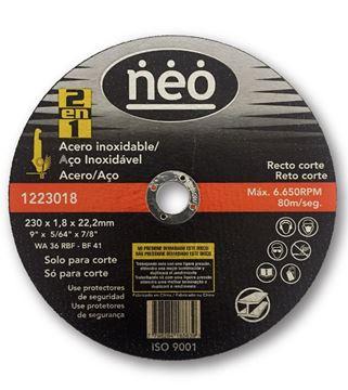 Imagen de DISCO ABRASIVO DE CORTE ACERO/ACERO 230x 1.8 NEO - Ynter Industrial