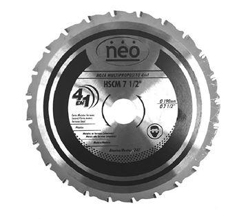 """Imagen de Hoja de sierra multiprop. 7 1/2"""" 20 dientes para SCM1007- Ynter Industrial"""