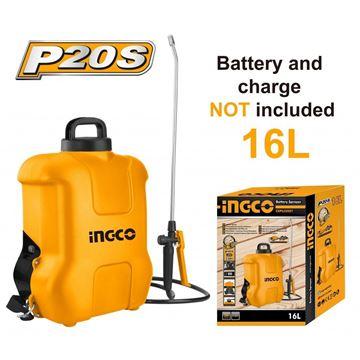 Imagen de Fumigador pulverizador P20S 16LT A bateria 20V INGCO - Ynter  Industrial