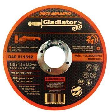 Imagen de Disco abrasivo de corte acero/acero inox Gladiator- Ynter Industrial