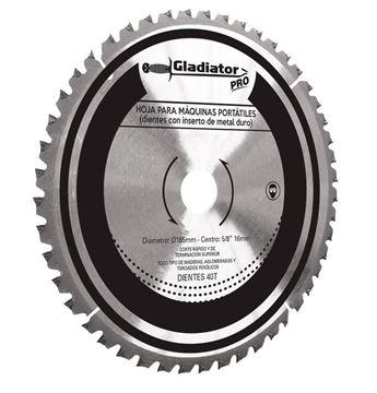 Imagen de Hoja  de sierra - 165MM - 40 dientes para madera Gladiator- Ynter Industrial