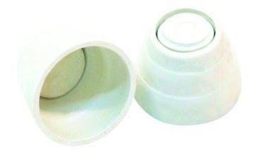 Imagen de Soporte plástico blanco para cortina de baño nac x par- Ynter Industrial