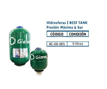 Imagen de Hidrosfera Best Tank Gianni 5litros- Ynter Industhrial