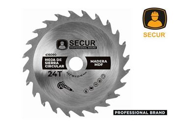"Imagen de Hoja de sierra circular Secur 4 1/2"" (115 mm) - 24 dientes- Ynter"
