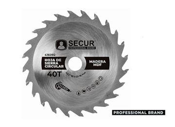"Imagen de Hoja de sierra circular Secur 4 1/2"" (115 mm) - 40 dientes- Ynter"