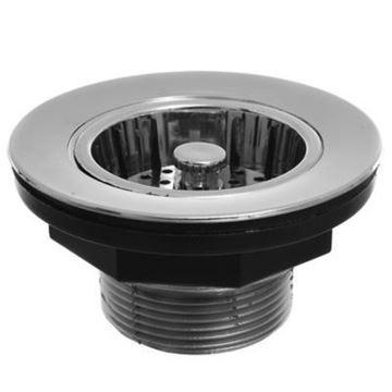 Imagen de Valvula americana cromada base plastica 50252