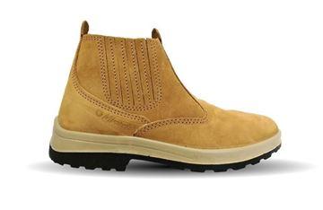 Imagen de Zapato Botin trabajo nobuck elastizado amarillo Worksafe  -Ynter