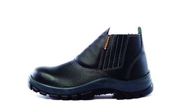 Imagen de Zapato Botin cuero elastizado (s/cordon) punta plastico negro-Ynter