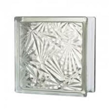 Imagen de Ladrillo de vidrio JH010 flor. ice flower-Ynter Industrial