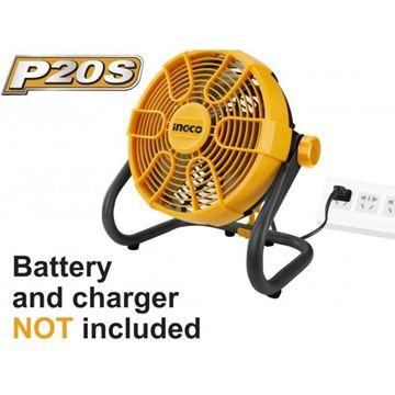 Imagen de Ventilador a bateria de litio 20V Ingco-Ynter Industrial