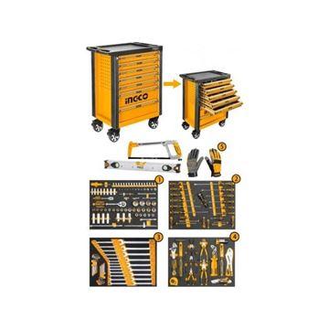 Imagen de Carro taller gabinete organizador 162 herramientas Ingco-Ynter Industrial