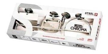 Imagen de kit accesorios para baño acero cromado 5 piezas chroma