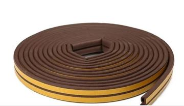 Imagen de Burlete goma 4X 10 MM X 5,2 MT marrón -Ynter Industrial