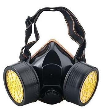 Imagen de Mascara protección de goma 2 filtros-Ynter Industrial
