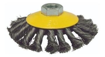 """Imagen de Cepillo copa tasa acero  trenzado 4.5"""" - Ynter Industrial"""