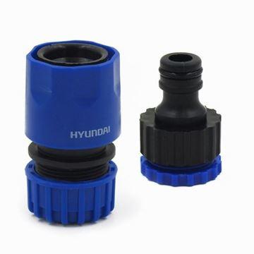 Imagen de Acople Hyundai rápido y conector 1/2 3/4¨2P- Ynter Industrial