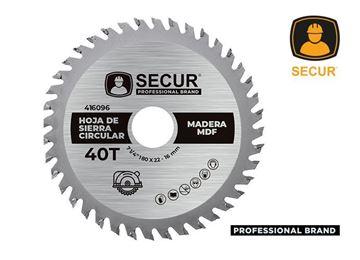 "Imagen de Hoja de sierra 7 1/4""x 40 dientes Secur para madera- Ynter Industrial"