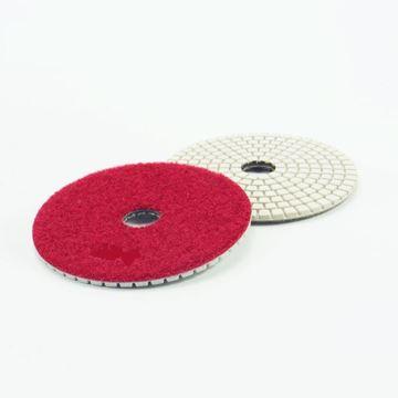 Imagen de Disco diamantado flexible 100mm GR400 rojo Norton - Ynter Industrial