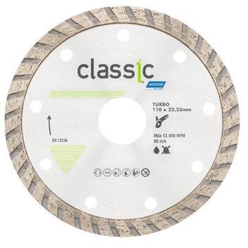 Imagen de Disco diamantado classic 110mm turbo Norton - Ynter Industrial