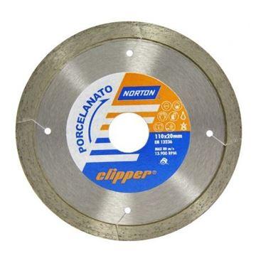 Imagen de Disco diamantado clipper Norton 110mm porcelanato - Ynter Industrial