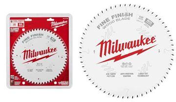 """Imagen de Hoja sierra circular p/madera 10"""" 60d fina 48-40-1028 Milwaukee-Ynter Industrial"""