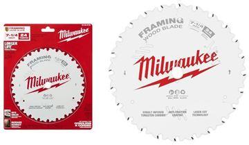 """Imagen de Hoja sierra circular 7.1/4"""" p/madera 24d framing 48-40-0720 Milwaukee-Ynter Industrial"""