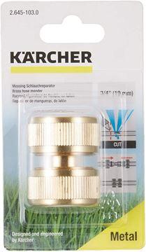 """Imagen de Conector reparador de manguera latón 5/8""""- 3/4"""" Karcher - Ynter Industrial"""