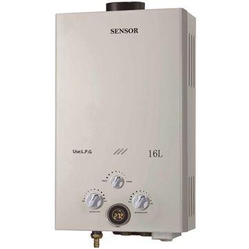 Imagen de Calefon a gas 16 lts  Sensor exterior tiro natural - Ynter Industrial