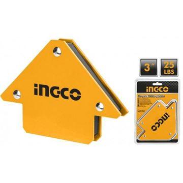 """Imagen de Escuadra magnética Ingco 3"""" 25lbs - Ynter Industrial"""