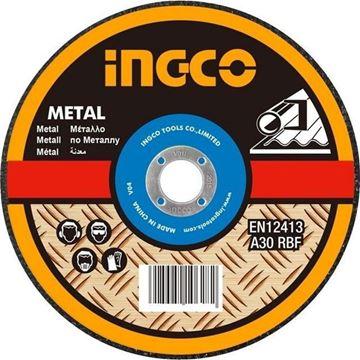 "Imagen de Disco abrasivo corte metal 9"" x 1.6mm centro plano Ingco-Ynter Industrial"